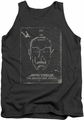 Star Trek tank top Join The Search mens charcoal