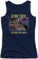 Star Trek TOS juniors tank top The Trouble With Tribbles navy