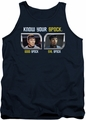 Star Trek TOS tank top Know Your Spock mens navy
