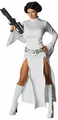 Star Wars Costume Princess Leia Sexy with Double Slit Front