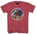 Star Wars Porthole Red Heather Mens T-Shirt