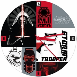 """Star Wars The Force Awakens 13.5"""" Cordless Wood Wall Clock pre-order"""