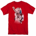 Suicide Squad t-shirt Harley Quinn Bat At You mens Red