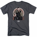 Suicide Squad t-shirt Rick Flagg Bullets mens Charcoal