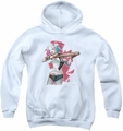 Suicide Squad youth teen hoodie bat aim white