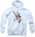 Suicide Squad youth teen hoodie bat at you white