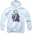 Suicide Squad youth teen hoodie blade white