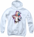 Suicide Squad youth teen hoodie bubble white