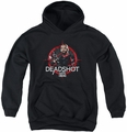 Suicide Squad youth teen hoodie deadshot target black