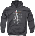 Suicide Squad youth teen hoodie harley argyle charcoal