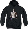 Suicide Squad youth teen hoodie joker stance black