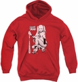 Suicide Squad youth teen hoodie kneel red