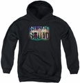 Suicide Squad youth teen hoodie neon logo black