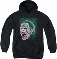 Suicide Squad youth teen hoodie prince portrait black