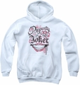 Suicide Squad youth teen hoodie property of white