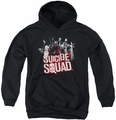 Suicide Squad youth teen hoodie squad splatter black