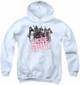 Suicide Squad youth teen hoodie squad splatter white