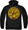 Sun Records pull-over hoodie Elvis Full Sun Label adult black