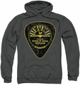 Sun Records pull-over hoodie Guitar Pick adult charcoal