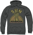 Sun Records pull-over hoodie Original Son adult charcoal