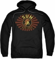 Sun Records pull-over hoodie Ray Rooster adult black