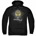 Sun Records pull-over hoodie Rockin Scrolls adult black