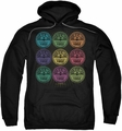 Sun Records pull-over hoodie Rocking Color Block adult black