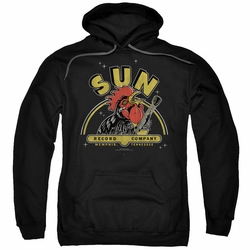 Sun Records pull-over hoodie Rocking Rooster adult black