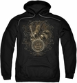 Sun Records pull-over hoodie Scroll Around Rooster adult black