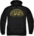 Sun Records pull-over hoodie Tattered Logo adult black