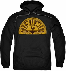 Sun Records pull-over hoodie Traditional Logo adult black