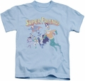 Super Friends kids t-shirt DC Comics light blue
