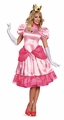 Super Mario Brothers adult deluxe Princess Peaches costume