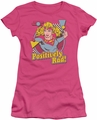 Supergirl juniors t-shirt Positively Rad hot pink