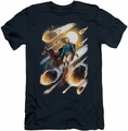 Supergirl slim-fit t-shirt #1 NEW 52 mens navy