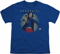 Supergirl youth teen t-shirt Classic Hero royal blue
