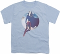 Supergirl youth teen t-shirt Cloudy Circle light blue