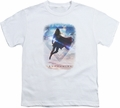Supergirl youth teen t-shirt Endless Sky white