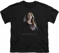 Supergirl youth teen t-shirt Stand Tall black