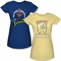 Superman Character Juniors t-shirts