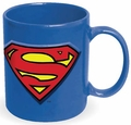 Superman Embossed Logo 20 oz. Ceramic Mug