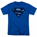 Superman t-shirt Blue S Shield mens