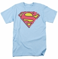 Superman t-shirt Distressed S Shield mens