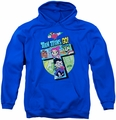 Teen Titans Go pull-over hoodie T adult royal blue