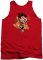 Teen Titans Go tank top Robin adult red