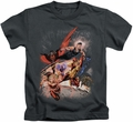 Teen Titans kids t-shirt Teen Titans #1 charcoal