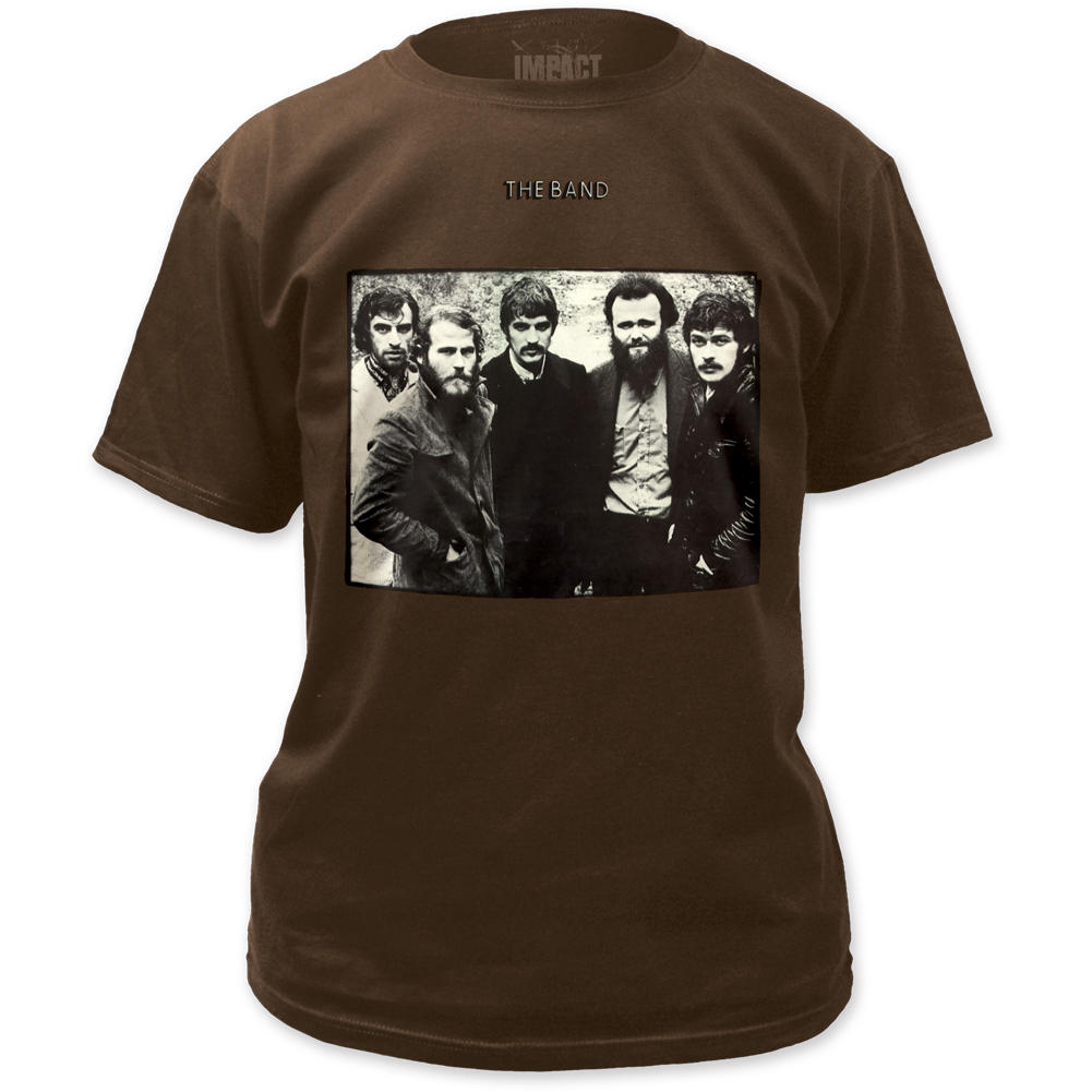 the band fitted jersey t shirt the band mens dark chocolate