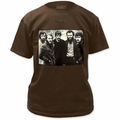 The Band fitted jersey t-shirt mens dark chocolate pre-order