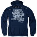 The Blues Brothers pull-over hoodie Band Back adult navy