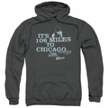 The Blues Brothers pull-over hoodie Chicago adult charcoal